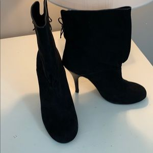 "Rampage black suede boots ""Elsa"" size 9.5"